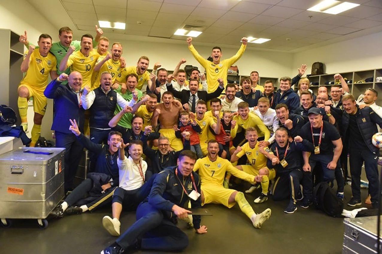 Сборная Украины досрочно квалифицировалась на Евро с первого места