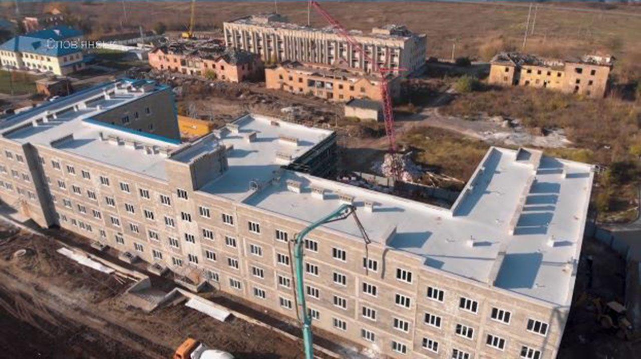 Відбудова шпиталю у Слов'янську завершується