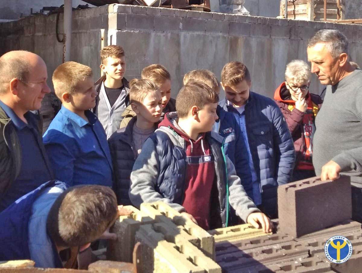 Восьмикласники Тернопільщини дізналися, як виготовляють будівельні блоки