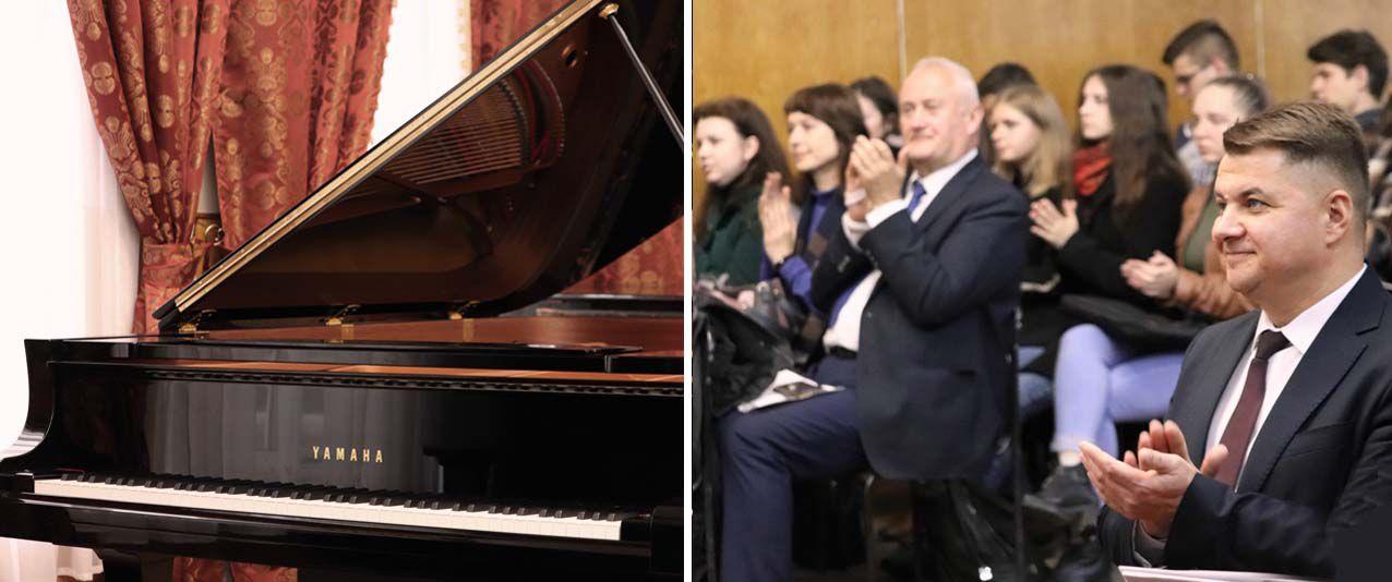 Рояль майбутнім віртуозам Тернопільського музичного коледжу