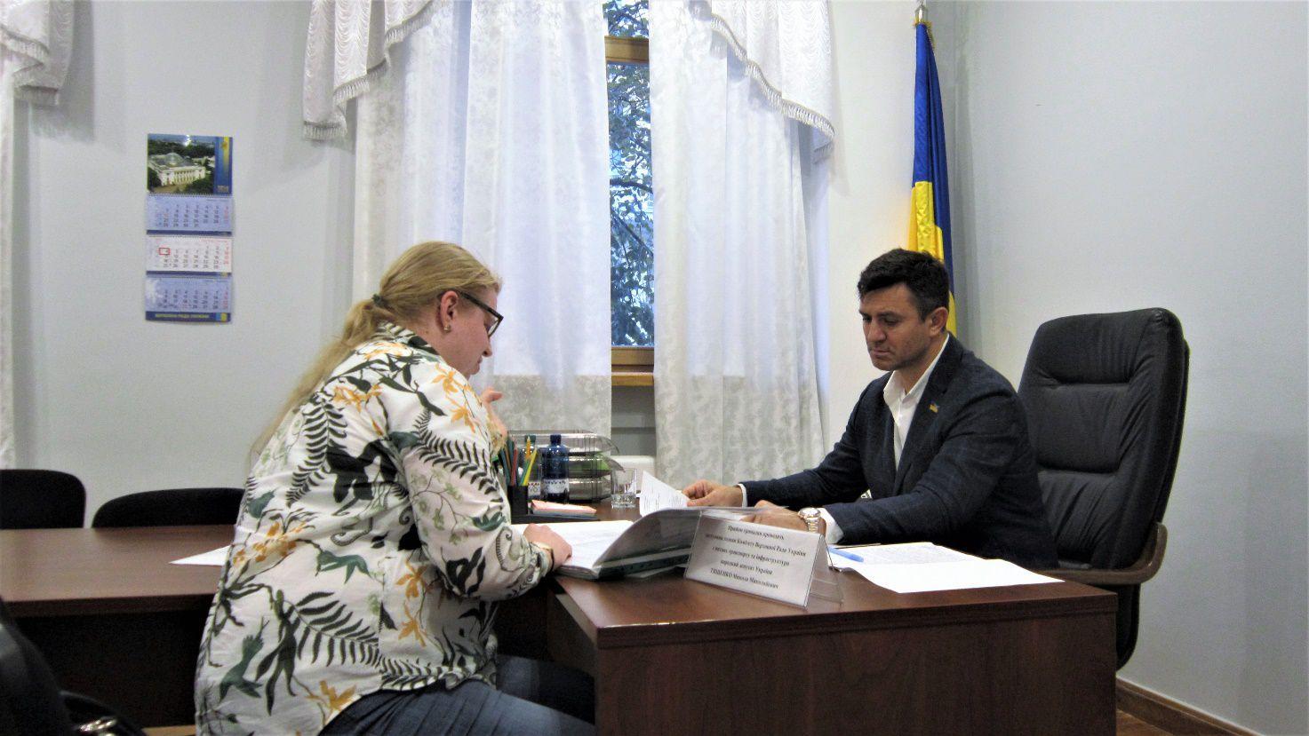 Микола Тищенко у приймальні Верховної Ради України