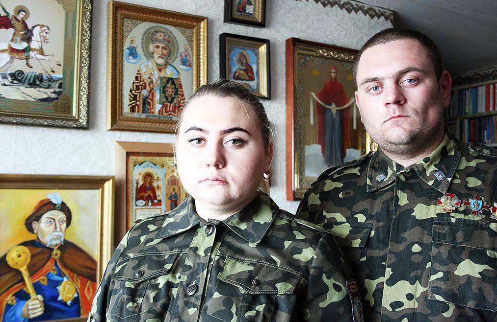Ярослав и Марина Низовые на защите Отечества