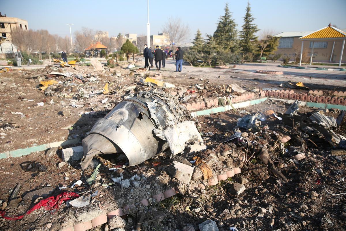 El avión ucraniano se estrelló en Irán