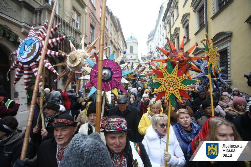 У рамках Різдвяного фестивалю у Львові відбулася «Хода звіздарів»
