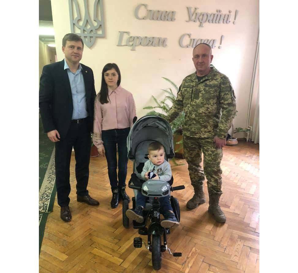 Відвідали сім'ю загиблого Героя Андрія Волоса