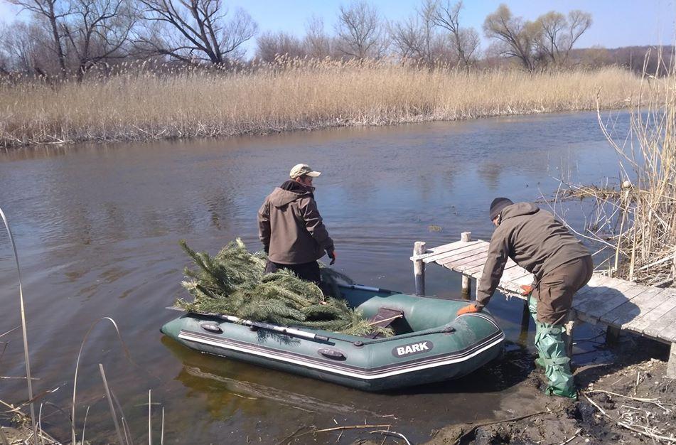 На Луганщині встановлюють гнізда для нересту риби