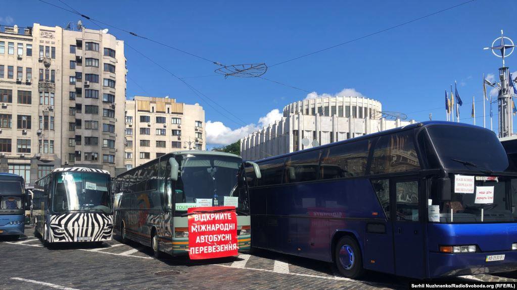 У Київ на акцію протесту з'їхались автоперевізники