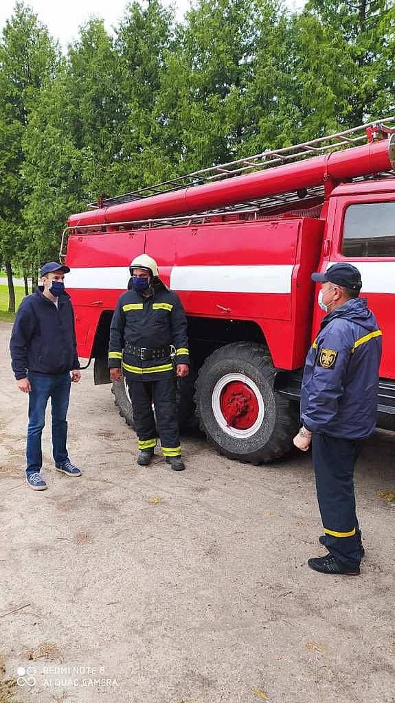 У селі Яхники почав функціонувати підрозділ місцевої пожежної охорони