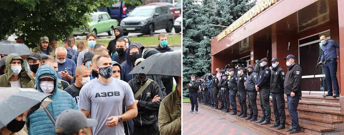 У Чернігові протест під поліцією