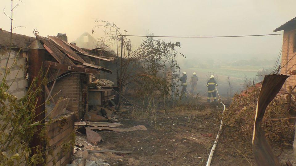В Новоайдарском районе пожар удалось локализовать
