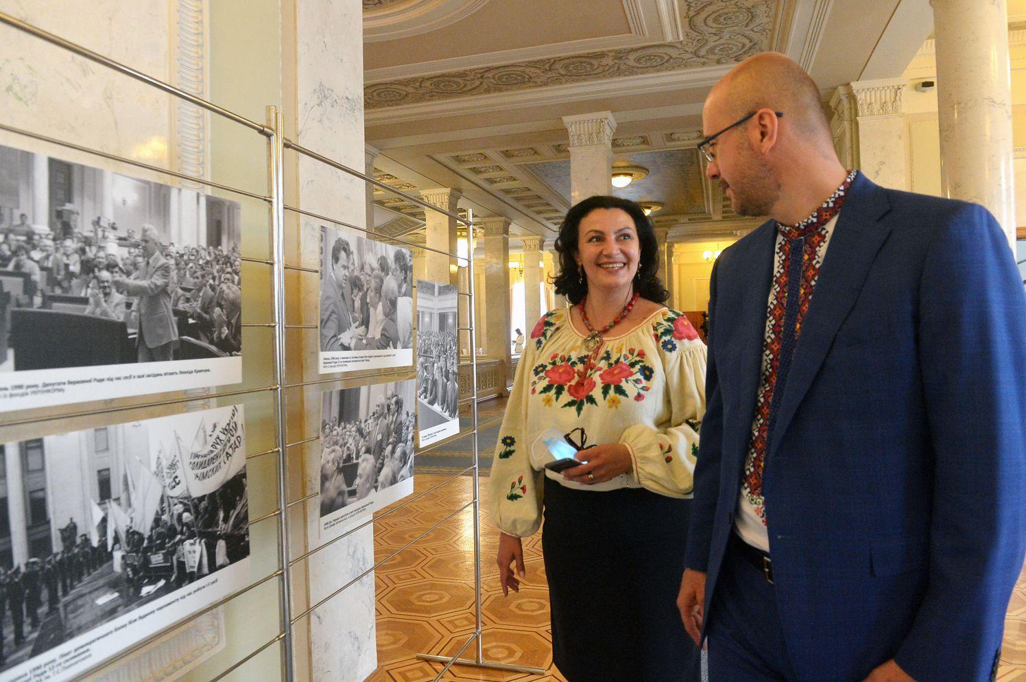 На виставці до 30-річчя Декларації про державний суверенітет України