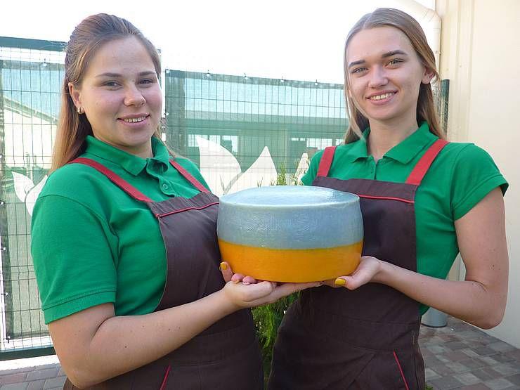 На Херсонщині виготовили сир у кольорах…  Державного прапора!