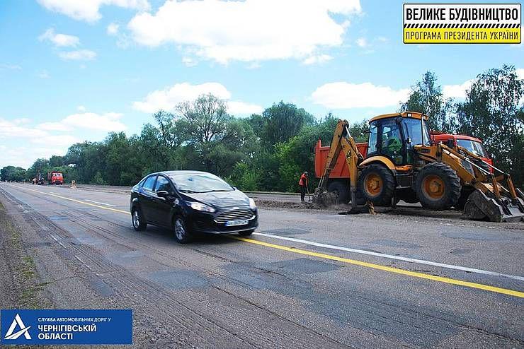 Черниговская область: Трассу ремонтируют азербайджанцы,  контролируют корейцы