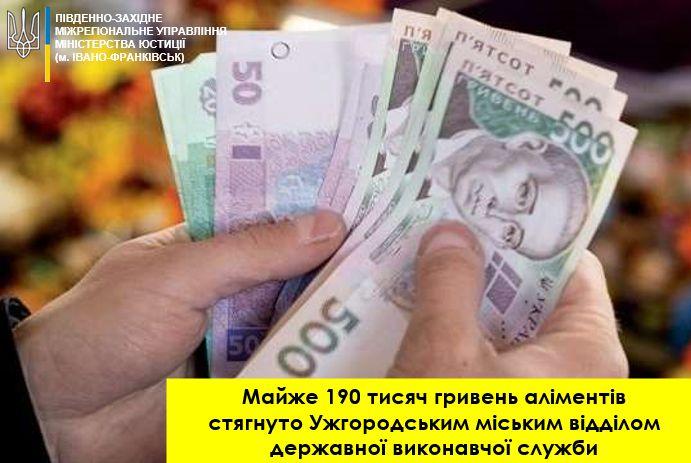 Закарпатье: Заплатил сразу 190 тысяч гривен алиментов