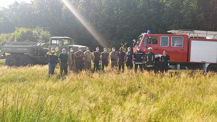 Закарпатье: Лесоводы и спасатели провели совместные учения