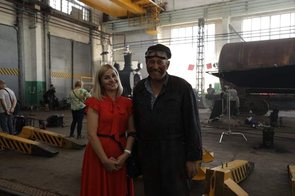 Одесса: Депо превратили в съемочную площадку