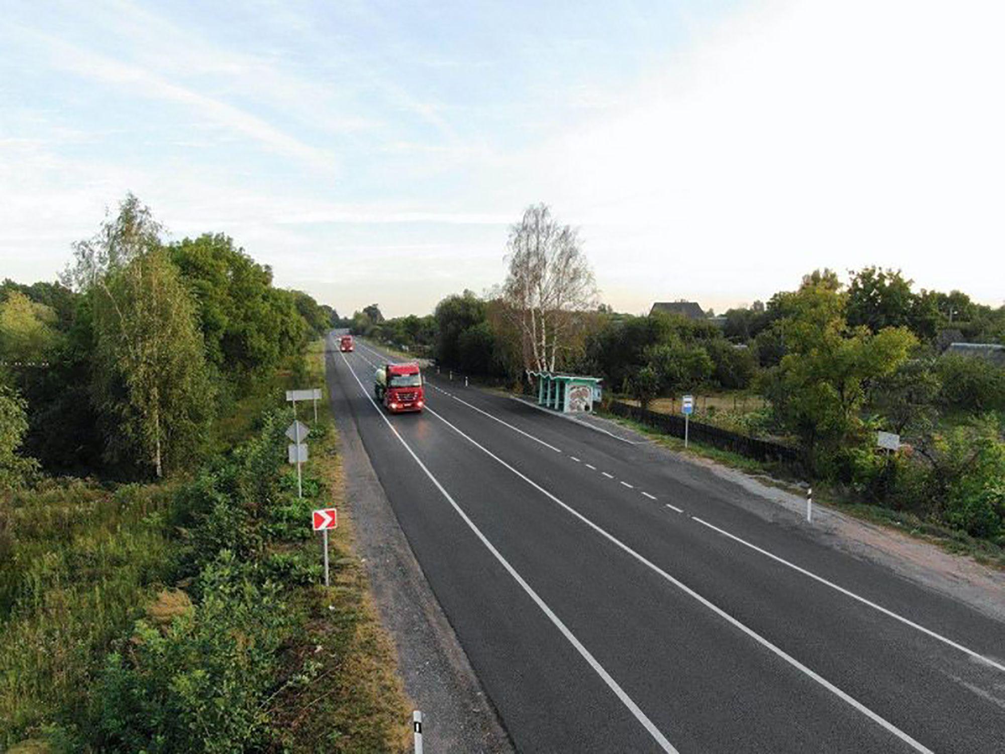 Житомирщина: Завершили ремонт участка трассы