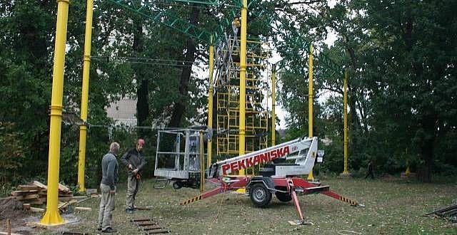 На подвір'ї київської школи будують «Мотузковий парк»