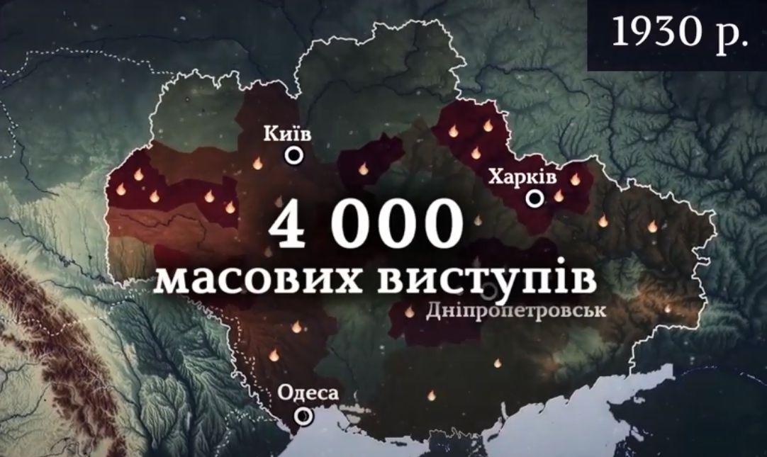 Восстания против советской власти и коллективизации Сталин подавил голодомором