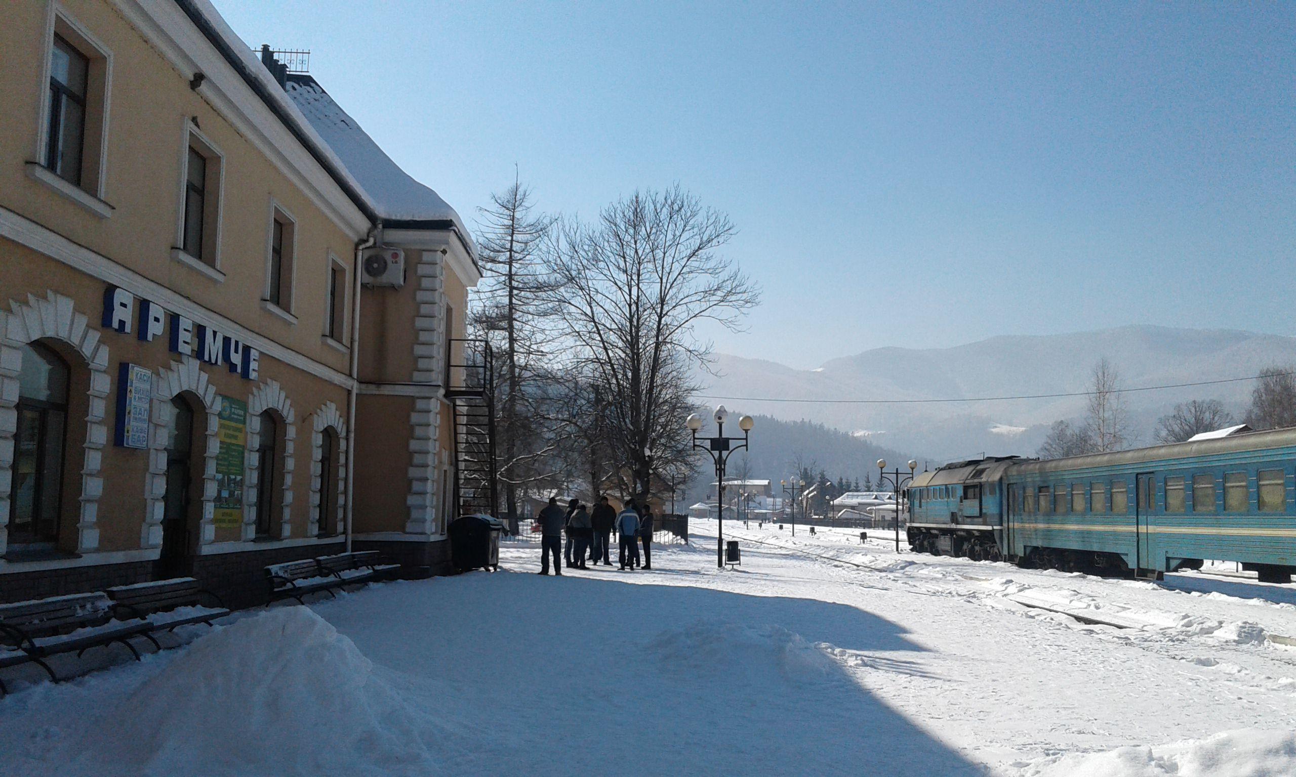 Прикарпатье: На поезде — на зимние праздники в горы