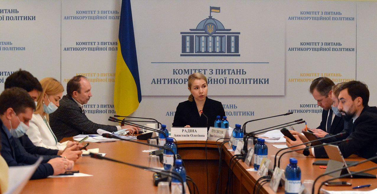 Анастасия Радина во время заседания
