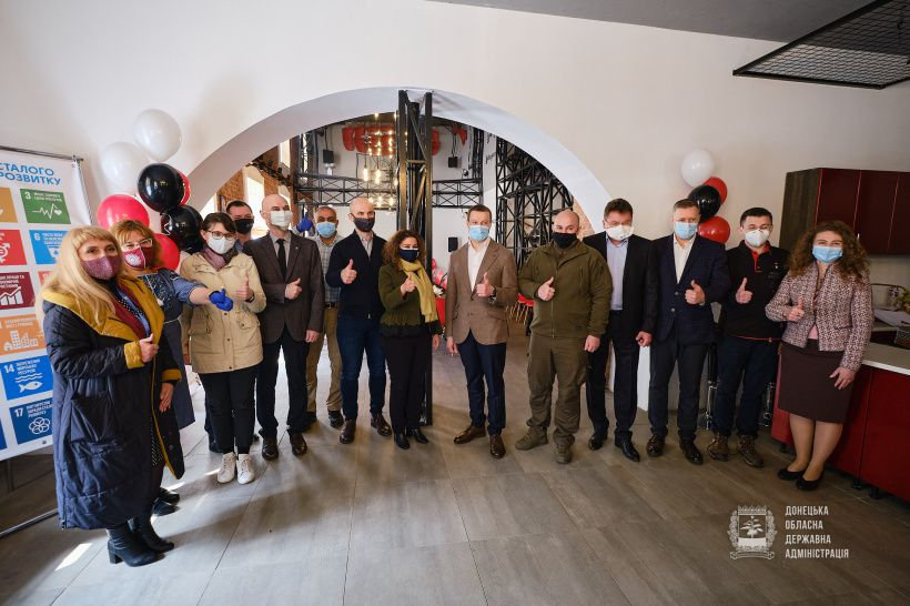 Донеччина: Соціальний хаб «Український Нью-Йорк» відкрито поблизу Торецька