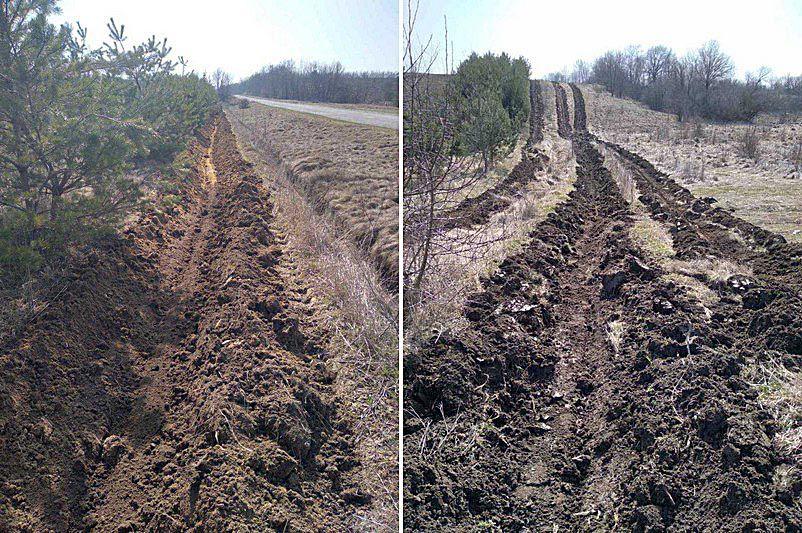 На Вінниччині ліси оперізують захисними борознами