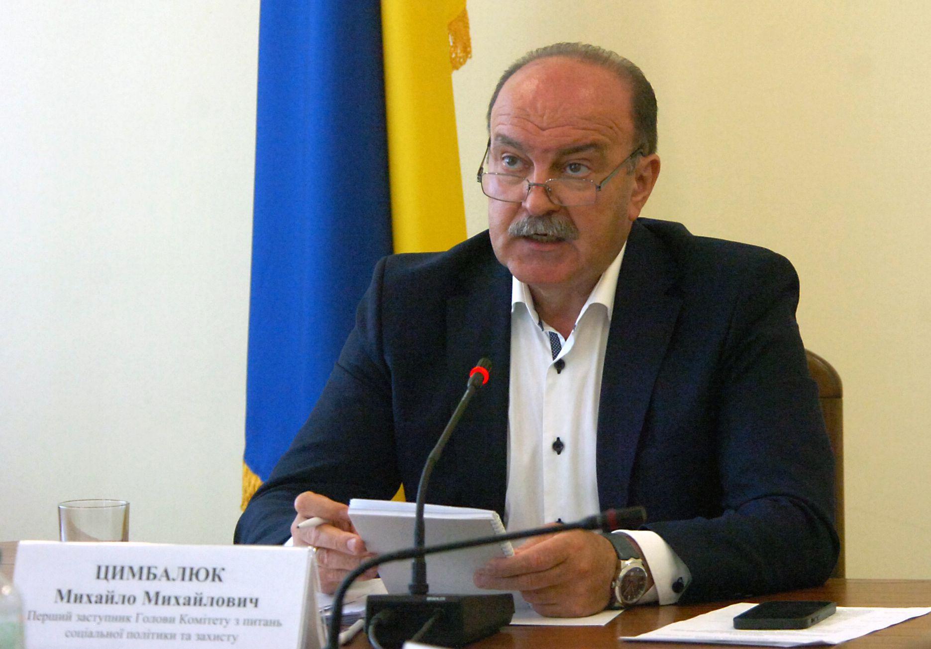 Михаил Цимбалюк во время заседания круглого стола
