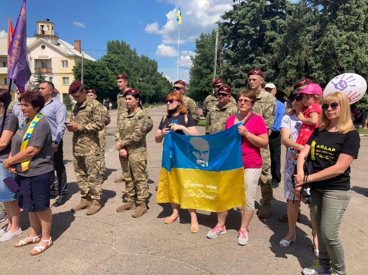 Відсвяткували річницю визволення міста Щастя від російської окупації