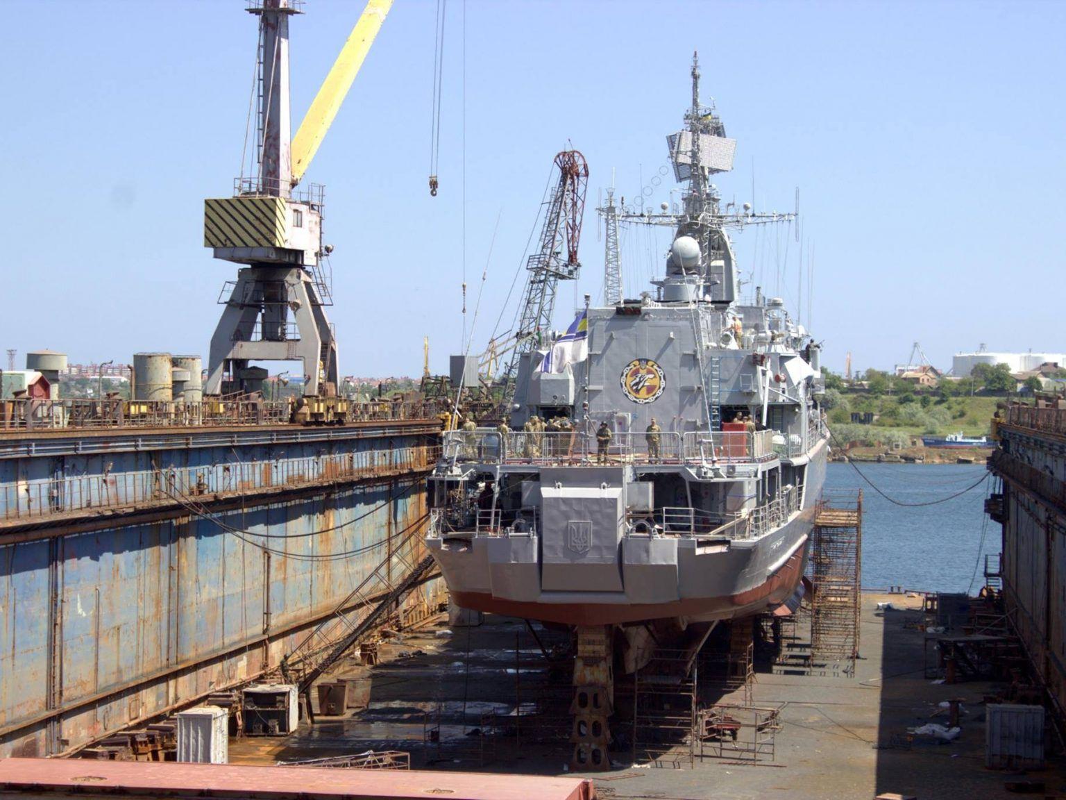 Николаев: Фрегат зашел на ремонт