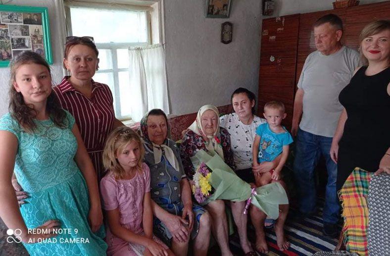 Поздравляли внуки, правнуки и праправнуки