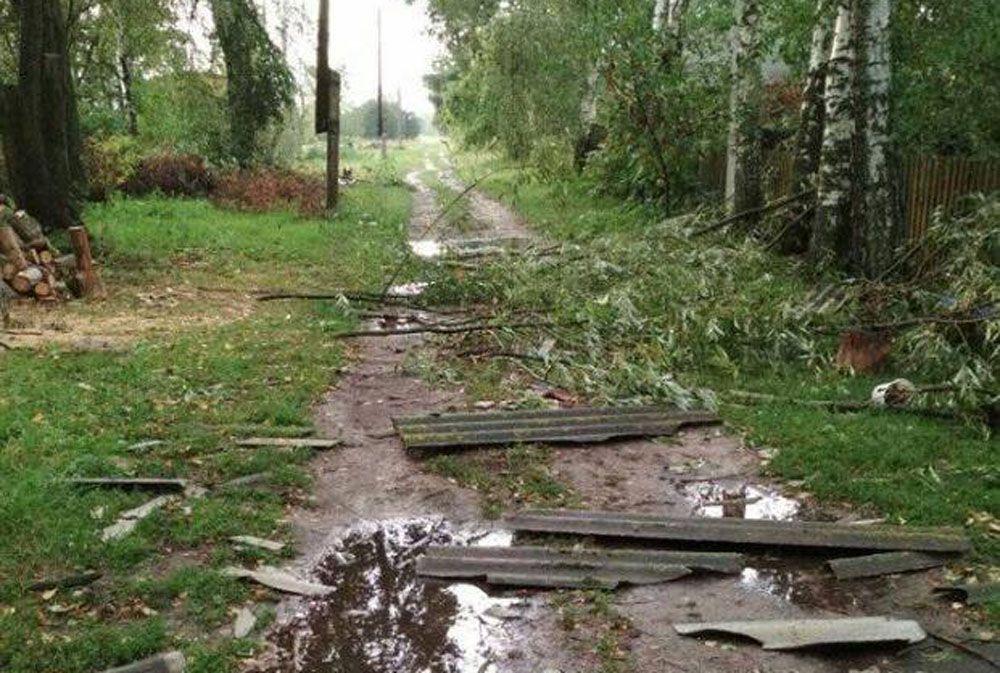 На Черниговщине пострадавшим от урагана выделили шифер и гвозди