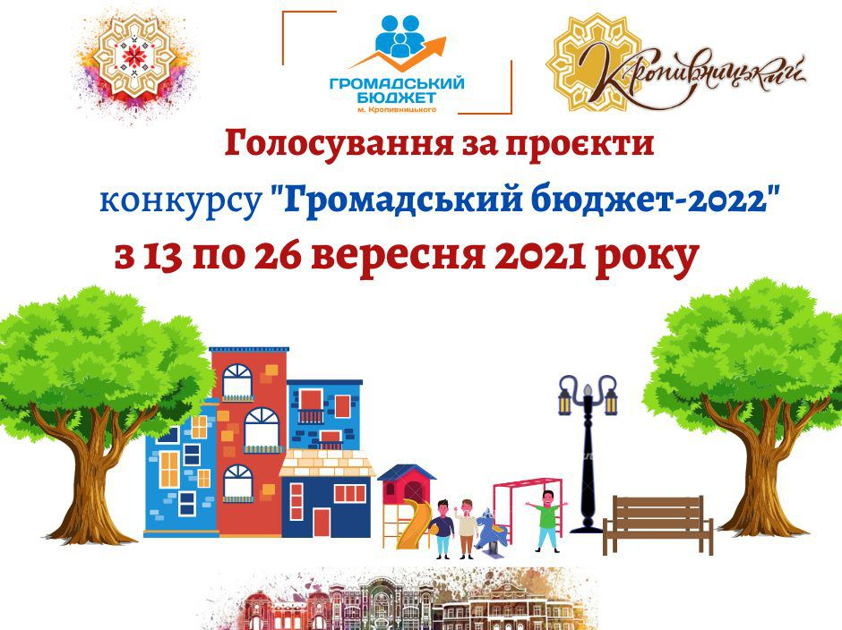В Кропивницком стартовало голосование за проекты общественных инициатив