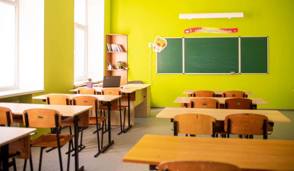 Днепр: Знания получают в обновленных классах