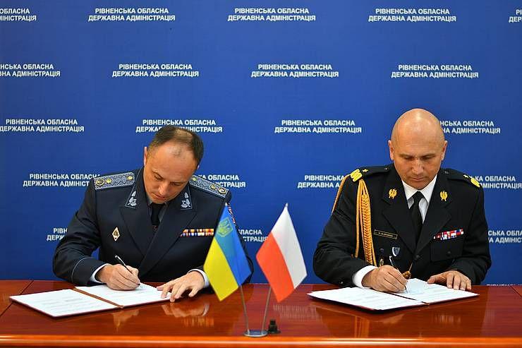 Спасатели Ривненщины накануне профессионального праздника подписали соглашение с польскими коллегами