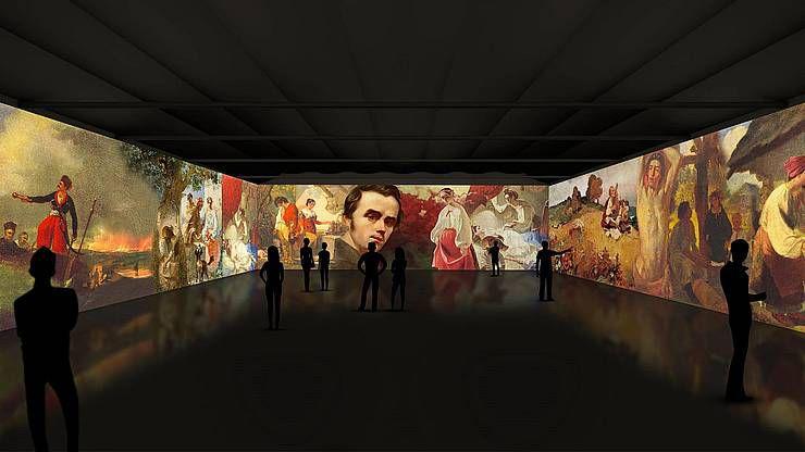 В Одессе состоялась первая иммерсивная выставка,  посвященная творчеству Тараса Шевченко