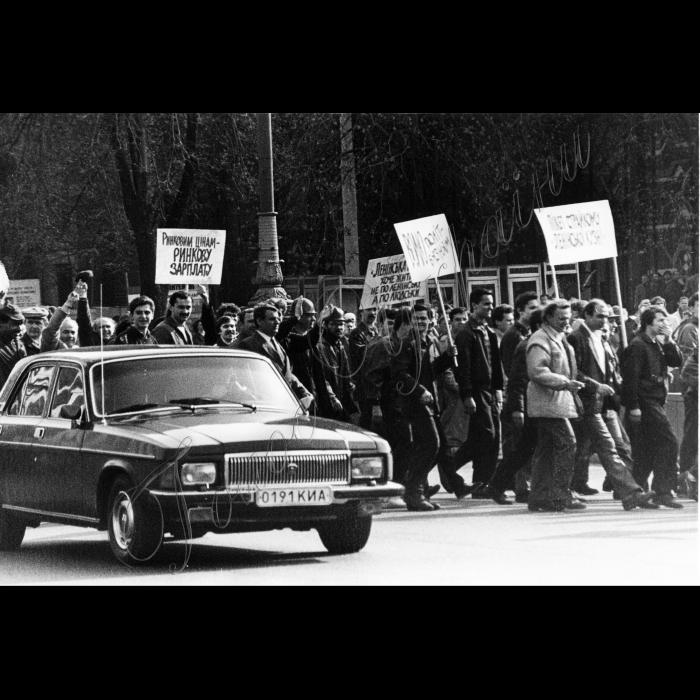 Мітинги. Квітень-травень 1991 року. Страйк водіїв електротранспорту, заводу Артема та інших
