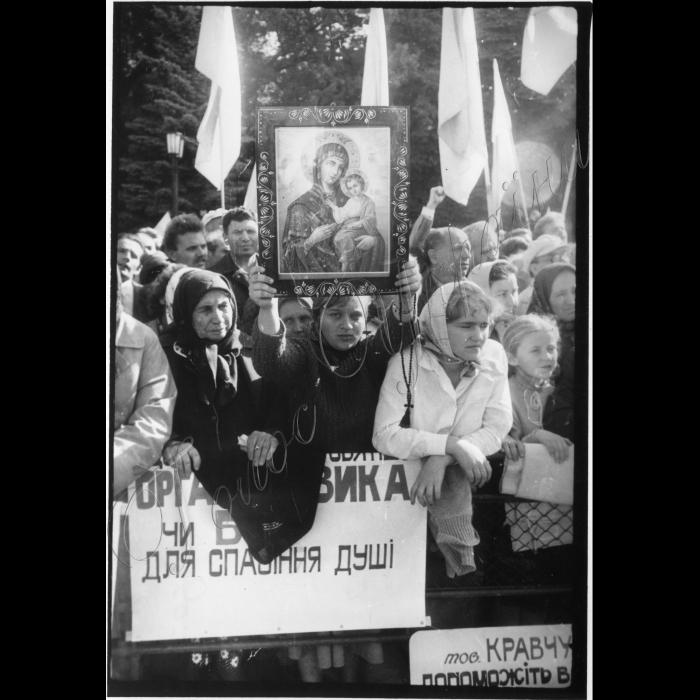 Мітинги . Жовтень-грудень 1991 року. 08.10.1991 Верховна Рада