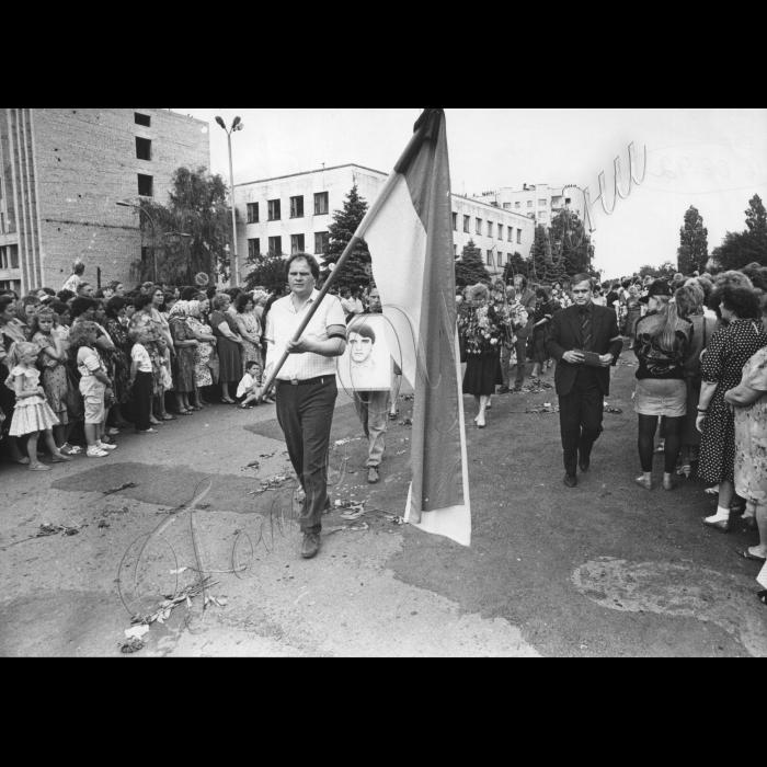 Мітинги. 1992 рік.  червень 1992.  Луганська область. Трагедія на шахті
