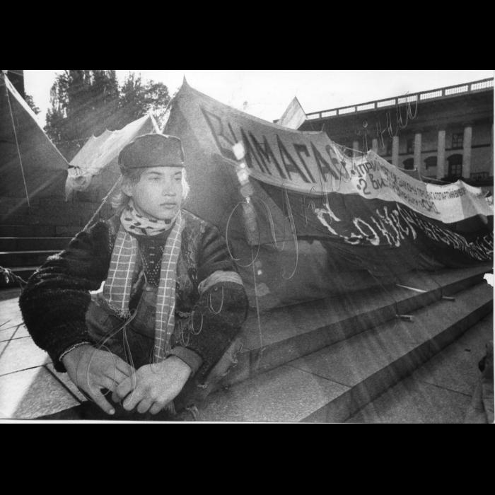 Мітинги. 1992 рік. Голодування студентів.