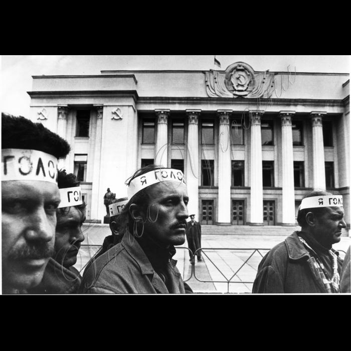 22.06.1993. Шахтарі голодують біля ВР