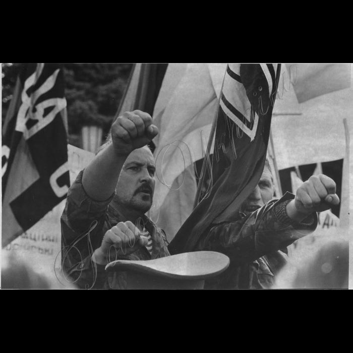 21.09.1993. УНА-УНСО біля ВР, мітинг