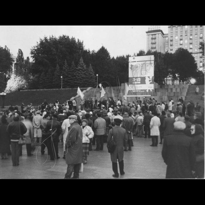 04.10.1993. Київ. Мітинг на підтримку перемоги Єльцина в Москві.