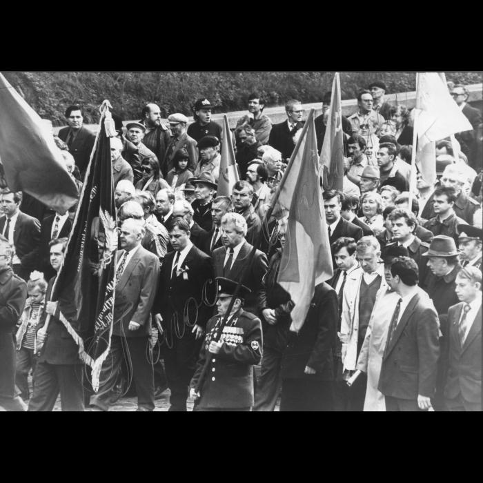 01.05.1995. Мітинг лівих сил на 1 травня. Ткаченко, Симоненко, Мороз.