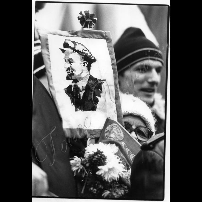 07.11.1995. Мітинг на Майдані до річниці початку Великої Жовтневої революції, Ленін