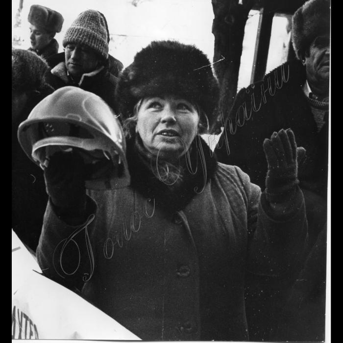01.02.1996. Пікети шахтарів