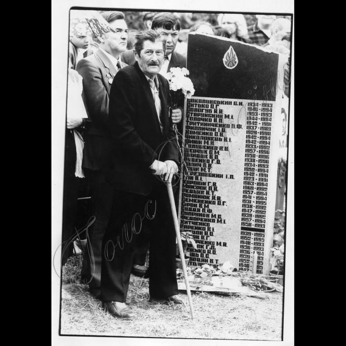 26.04.1996. Мітинг пам'яті Чорнобильської трагедії в Ленінградському районі столиці.