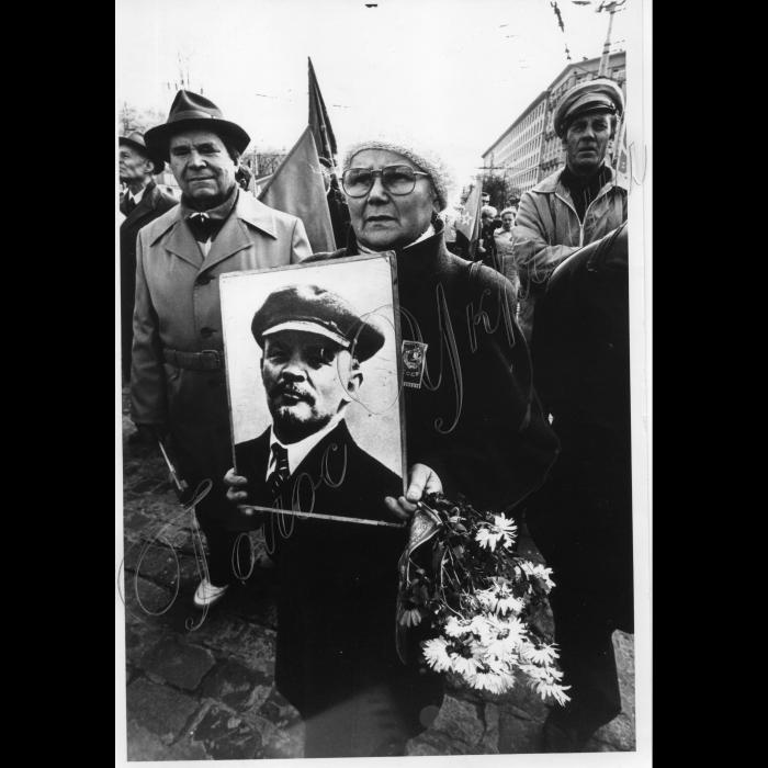 07.11.1996. Комуністи. Ленін. Річниця Жовтневої революції