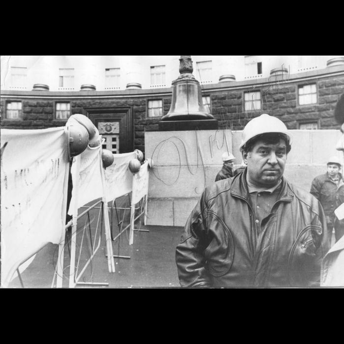 14.11.1996. Пікети шахтарів біля Кабміну