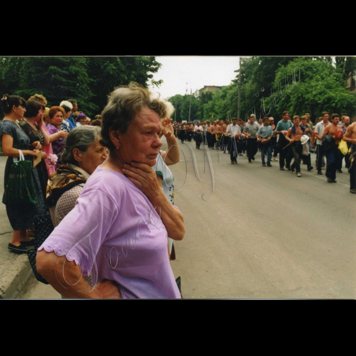 Червень 1998 року. Піший похід шахтарів на Київ.